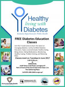 Healthy Living with Diabetes @ Immanuel Baptist Church | Lexington | Kentucky | United States