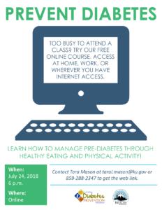 Online Diabetes Prevention Class