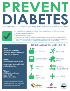 Diabetes Prevention Series @ BCTC Newtown Campus | Lexington | Kentucky | United States
