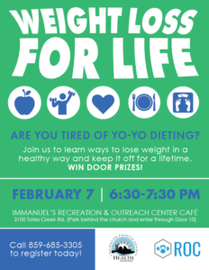 Weight Loss for Life @ Immanuel's Recreation & Outreach Center Cafe   Lexington   Kentucky   United States