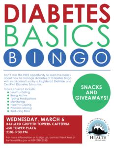Diabetes Basics Bingo @ Ballard Griffith Towers   Lexington   Kentucky   United States