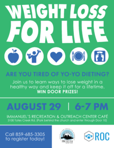 Weight Loss for Life Class @ Immanuel's Recreation & Outreach Center Cafe   Lexington   Kentucky   United States
