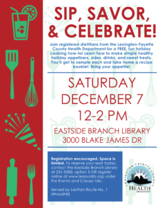 Sip, Savor, & Celebrate! @ Lexington Public Library Eastside Branch | Lexington | Kentucky | United States
