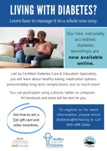 Statewide Living with Diabetes Online Workshop @ online class